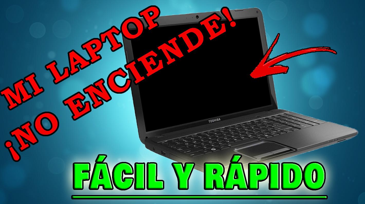 Laptop no enciende: Solución