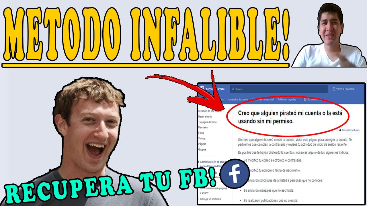 Como recuperar mi cuenta de facebook