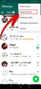 Nueva difusion whatsapp