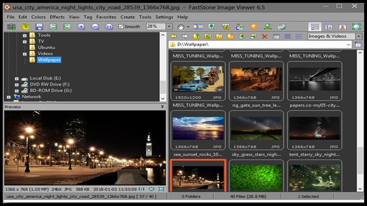 Faststone el Visualizador de imagenes para Windows