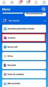 PASO 3 Para activar facebook avatar